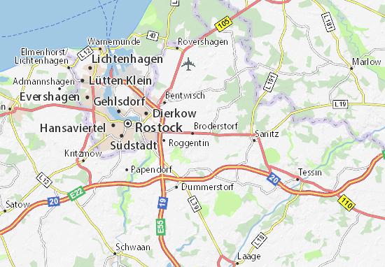 Broderstorf Map