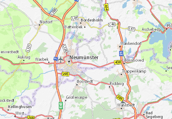 Karte Stadtplan Bönebüttel