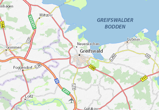 Greifswald Map