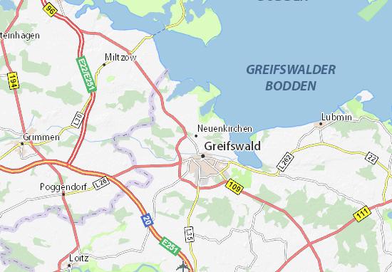 Greifswald Karte.Karte Stadtplan Neuenkirchen Viamichelin