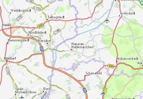 Hanerau-Hademarschen Map