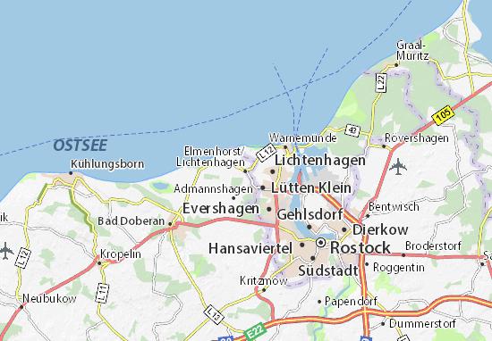 Mappe-Piantine Elmenhorst/Lichtenhagen
