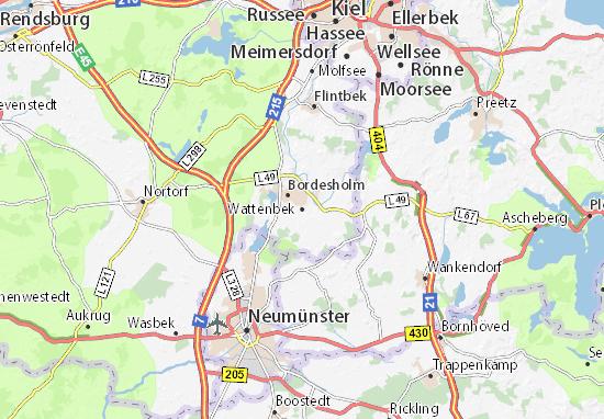 Wattenbek Map