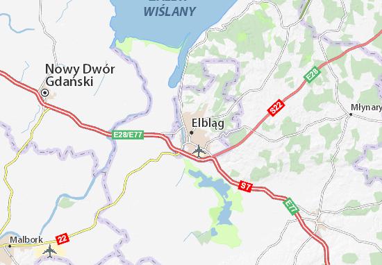 Mapa Elbląg
