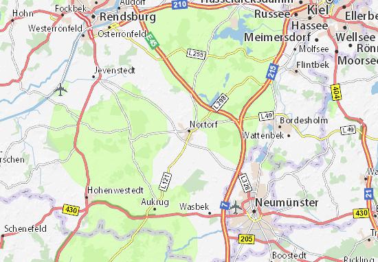 Nortorf Map