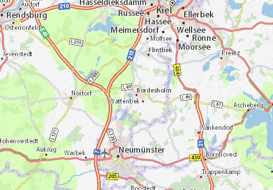 Bordesholm Map: Detailed maps for the city of Bordesholm