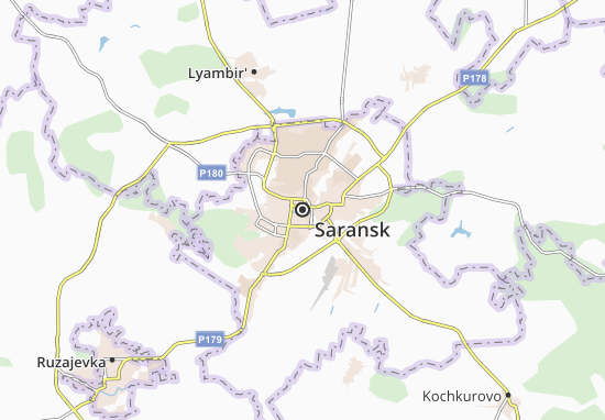 Saransk Map: Detailed maps for the city of Saransk   ViaMichelin