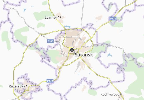 Map Of Saransk Michelin Saransk Map ViaMichelin - Saransk map