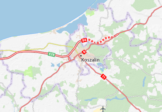Mapa Koszalin