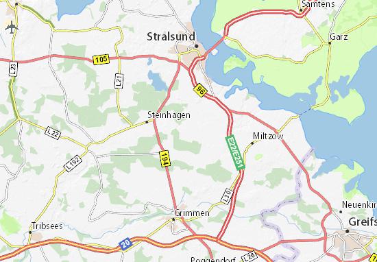 Stralsund Karte.Karte Stadtplan Elmenhorst Viamichelin