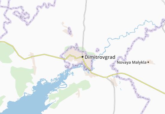 Carte-Plan Dimitrovgrad
