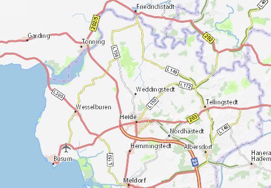 Weddingstedt Map