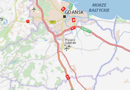 Mapa Pruszcz Gdański
