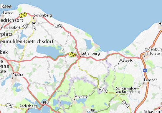 Lütjenburg Map