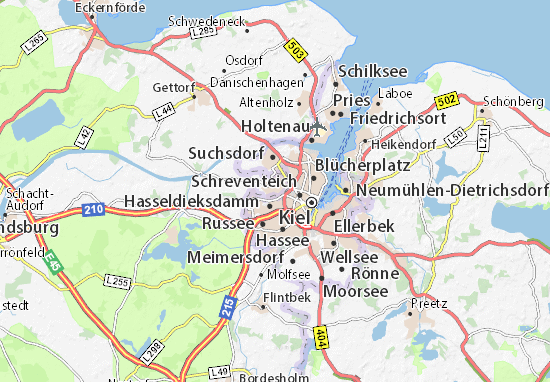 Carte-Plan Kronshagen