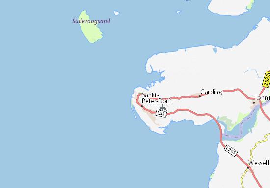 Sankt Peter Ording Karte.Karte Stadtplan Ording Viamichelin