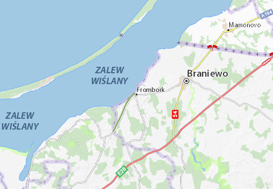 Mapa Frombork