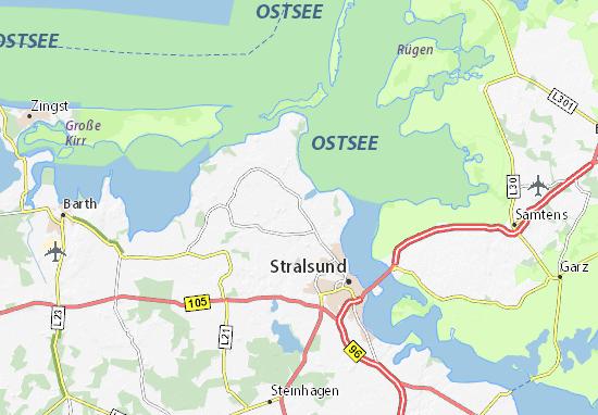 Stralsund Karte.Karte Stadtplan Prohn Viamichelin
