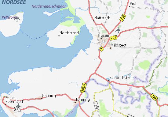 husum karte Karte, Stadtplan Simonsberg   ViaMichelin