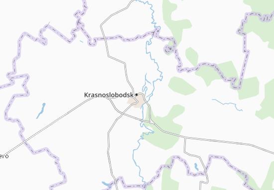 Carte-Plan Krasnoslobodsk