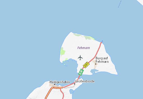 Fehmarn Karte Insel.Karte Stadtplan Petersdorf Am Fehmarn Viamichelin