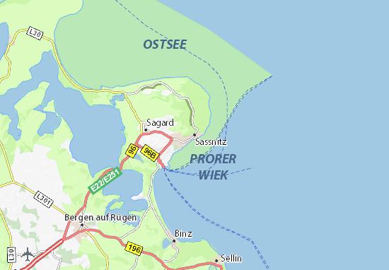 Mapa Plano Sassnitz