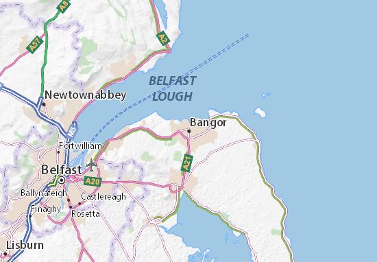 Kaart Plattegrond Bangor