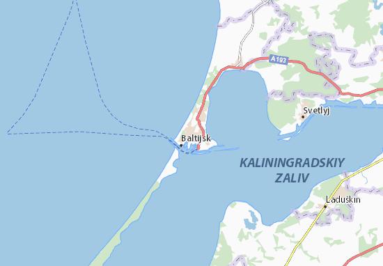 Kaart Plattegrond Baltijsk