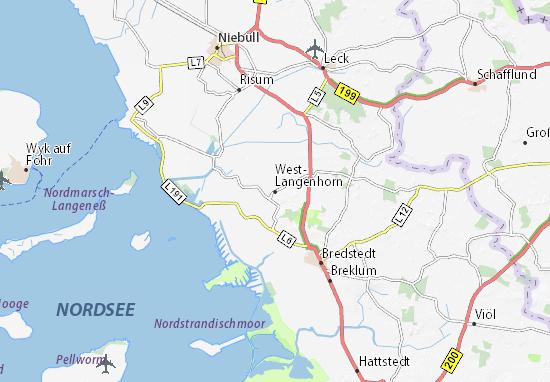 West-Langenhorn Map