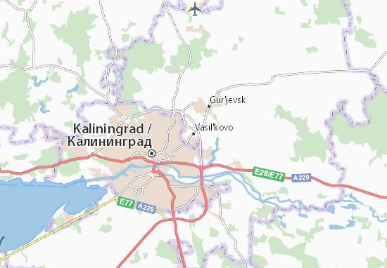 Kaart Plattegrond Vasil'kovo