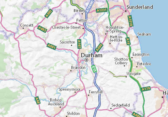 Durham Map: Detailed maps for the city of Durham - ViaMichelin on