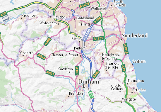 Map Of England Durham.Chester Le Street Map Detailed Maps For The City Of Chester Le
