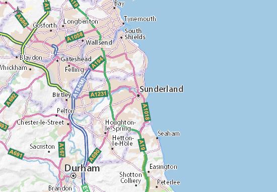 Carte-Plan Sunderland