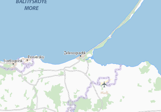 Mapas-Planos Zelenogradsk