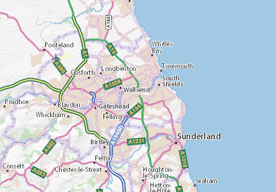 Jarrow Map: Detailed maps for the city of Jarrow - ViaMichelin