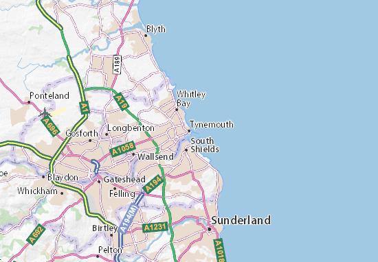 Mapas-Planos Tynemouth