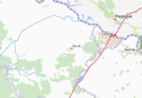Carte-Plan Slavsk