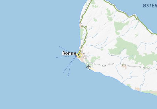 Kaart Plattegrond Rønne