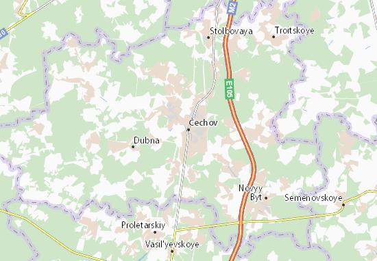 Mapa Plano Čechov