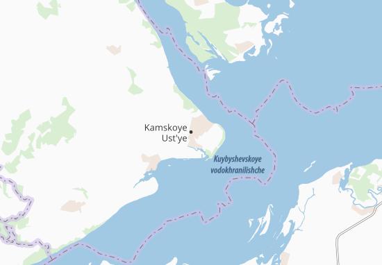 Carte-Plan Kamskoye Ust'ye