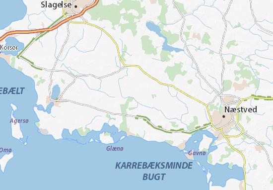 Karte, Stadtplan Sandved - ViaMichelin