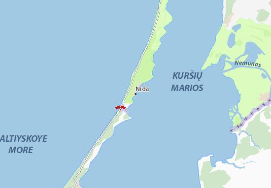 Mapa Plano Nida