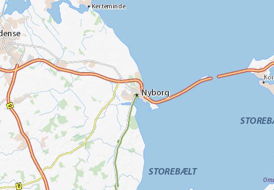 Nyborg Map
