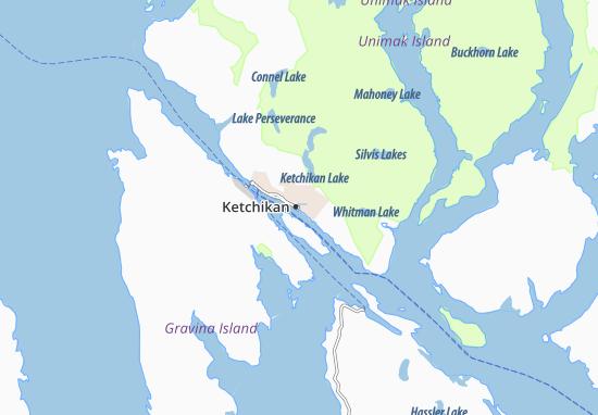 Map of Ketchikan - Michelin Ketchikan map - ViaMichelin Ketchikan Map on sitka map, glacier bay map, chevak map, metlakatla map, skagway walking map, alaska map, superior map, juneau map, nanwalek map, anchorage map, lake and peninsula borough map, tongass national forest map, chitina map, tin city map, bethel map, kobuk map, prince william sound map, north pole map, london map, unalakleet map,
