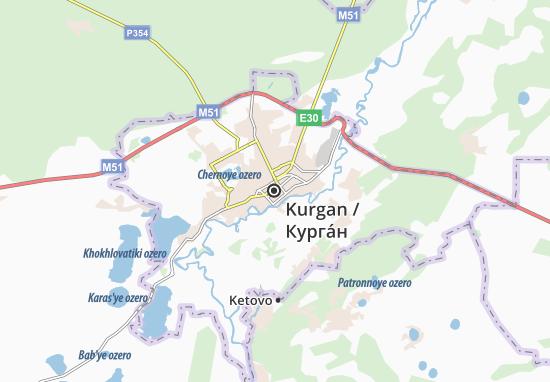 Kaart Plattegrond Kurgan