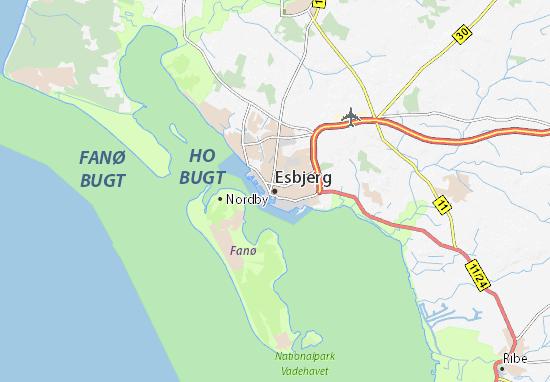Mapa Plano Esbjerg