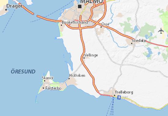 Mapa Plano Vellinge