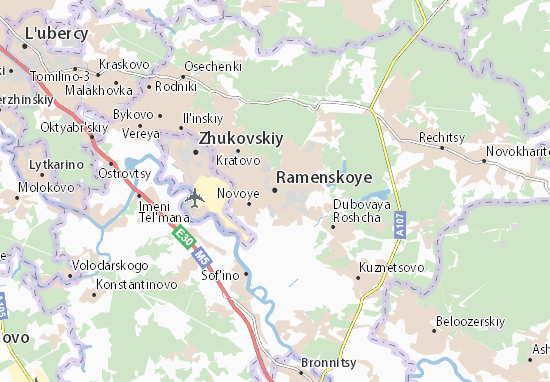 Mapa Plano Ramenskoye