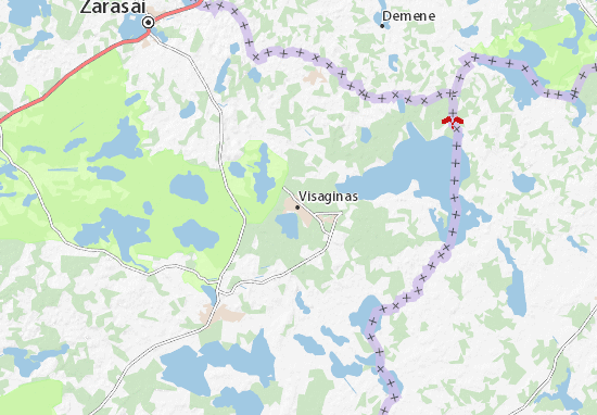 Visaginas Map