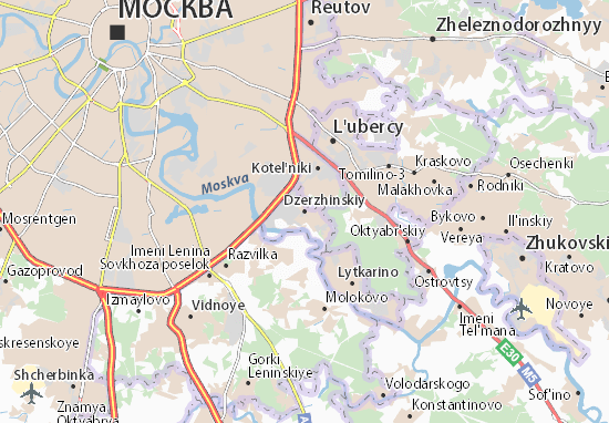 Carte-Plan Dzerzhinskiy